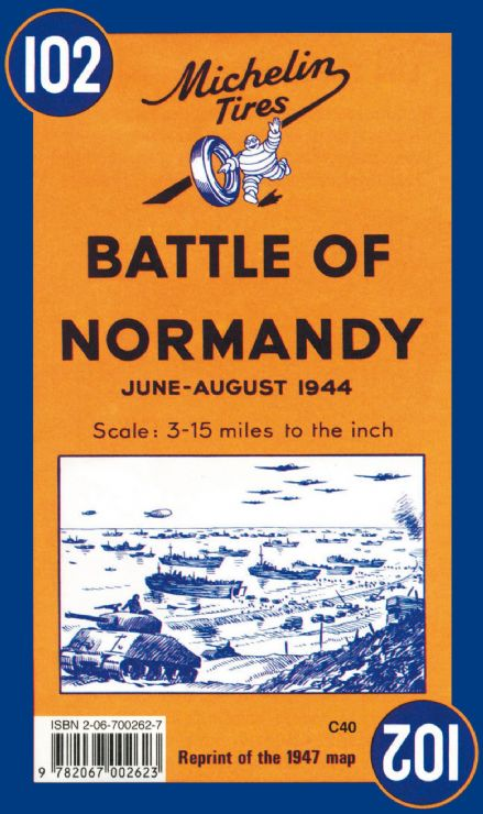 Battle of Normandy - Michelin Historical Map 102